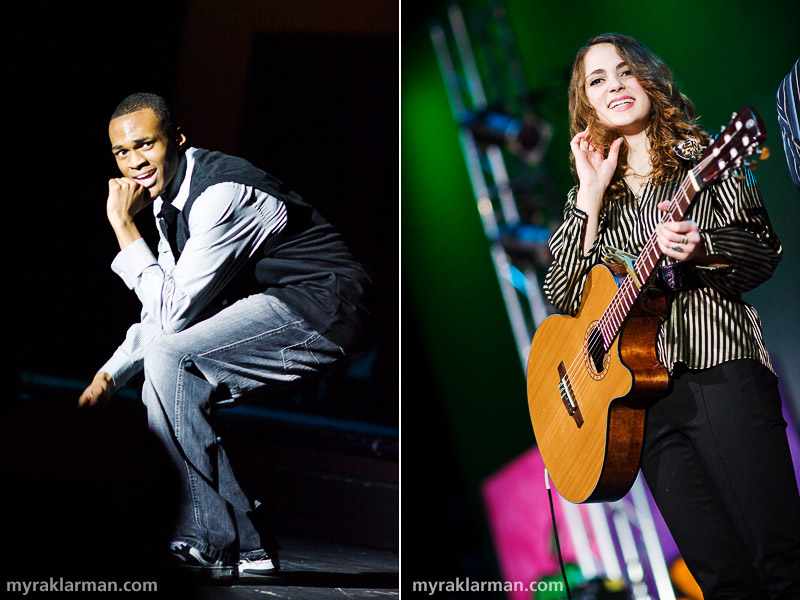 FutureStars 2009 | Dancer Julius Theophilus and singer/guitarist Amelia Franceschi shared this year's first-place honors. The audience was wild for Julius's hip-hop dance to Common's Universal Mind Control. Amelia captivated us all with her soulful performance of Leonard Cohen's Hallelujah.