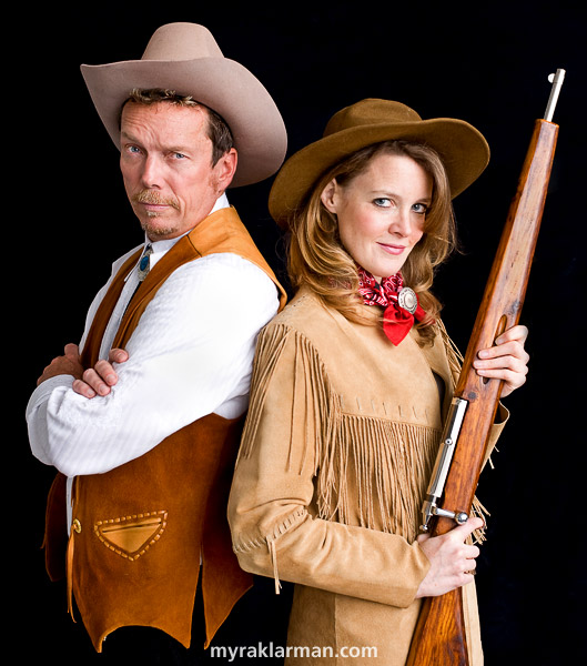 Burns Park Players: Annie Get Your Gun | A month before opening night: I loved working on the publicity photo with Eva Rosenwald (Annie Oakley) and Jeffrey Post (Frank Butler).