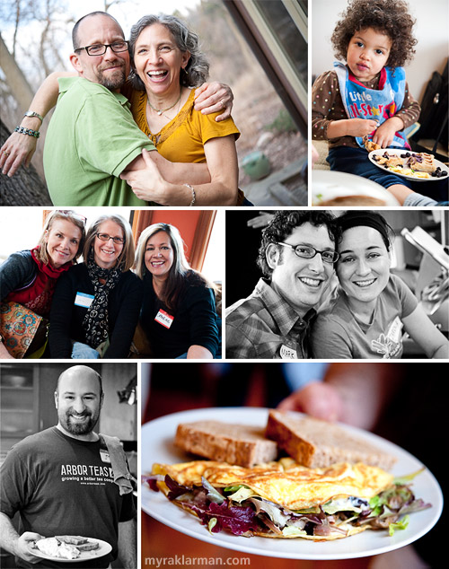 Selma Café: March 13, 2009 | Selma hosts Jeff McCabe + Lisa Gottlieb have enthusiasm and love to spare | The youngest guests at Selma seem to favor the waffles with blueberries | It was wonderful dining with friends, including Molly Cleary, Ann Stewart + Catherine Thursby (Red Shoes)  | Getting more acquainted with other Selma regulars Mark and Zarena | Chef Jeremy Lopatin (Arbor Teas) cooked up the most amazing omelets | This was definitely the best omelet I've ever tasted!