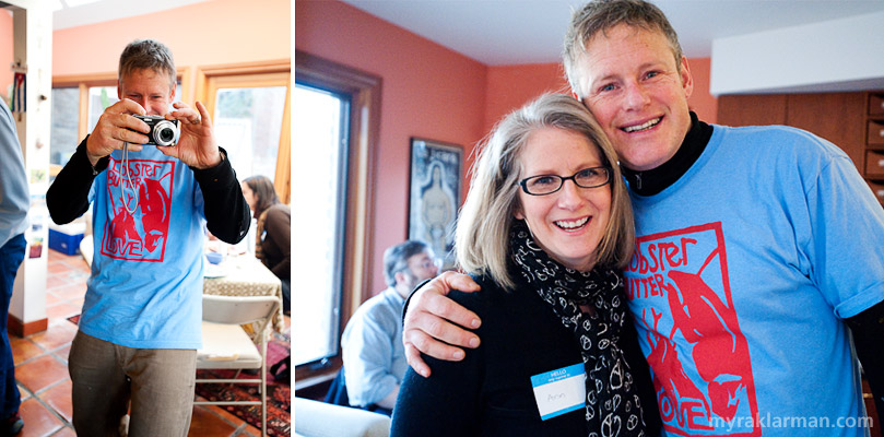 Selma Café: March 13, 2009 | Lots of folks brought their cameras to Selma today, including Mr. Lobster Butter Love himself, John Roos | Small world: Ann Stewart and John Roos are first cousins!