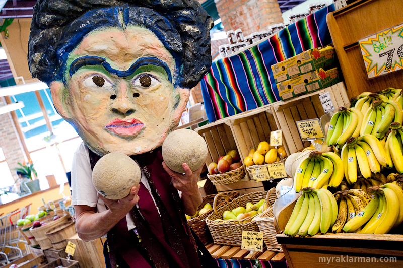Frida Kahlo | Our first stop was the People's Food Co-op, where we watched Frida re-enact her cameo in the 2nd Austin Powers movie.