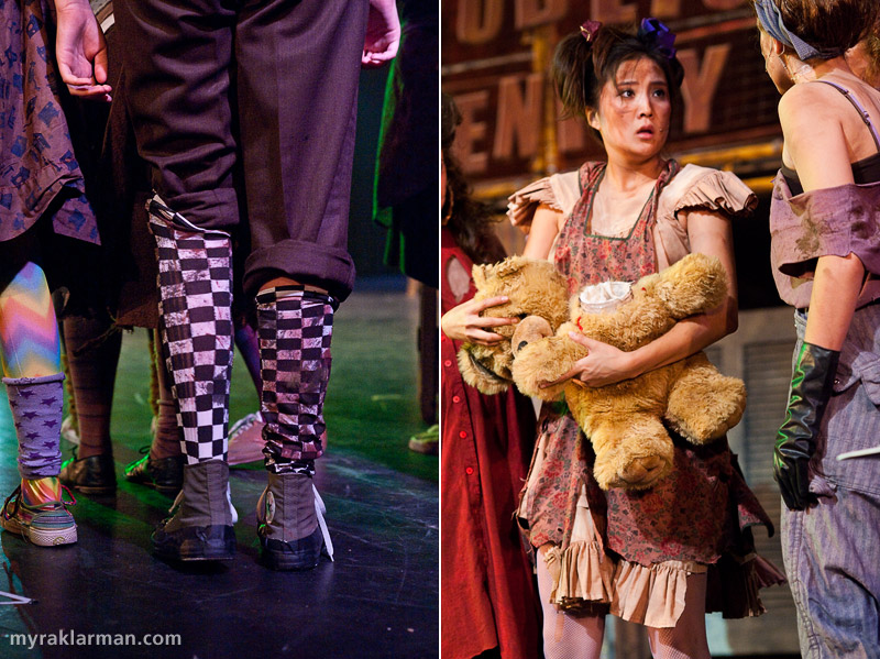 "Pioneer Theatre Guild: Urinetown | I must have those socks! | Little Sally's teddy-bear bank, in which she keeps her ""pee"" money (the bear features a twist-off head)."