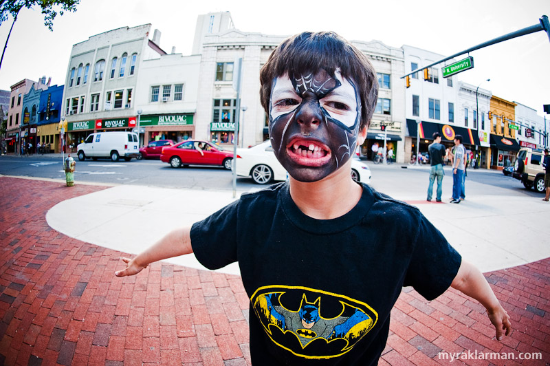 First Friday: Ann Arbor Summer Festival 2009 | It's a bat… It's an alien spider symbiote… It's Supermax!