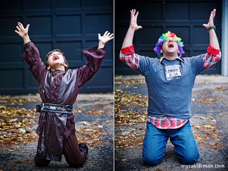 Halloween 2009 | Anakin and Rollen experiencing religious ecstasy — or is that just a sugar high?