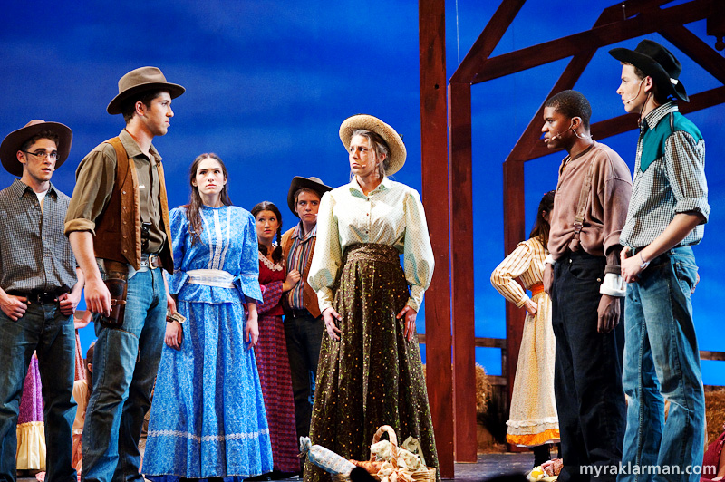 Pioneer Theatre Guild: Oklahoma! | Laurey's (Lydia Hiller) picnic lunch triggers a bidding war.