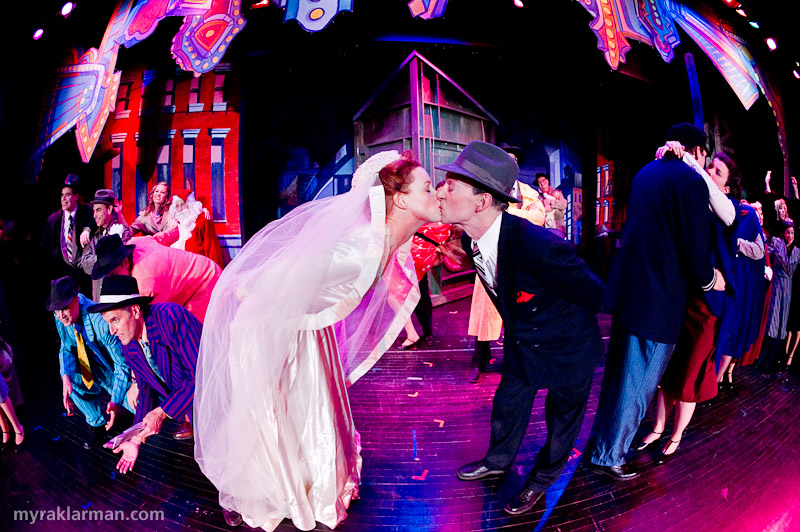 Burns Park Players: Guys and Dolls | The happy ending, as seen through my fisheye lens.