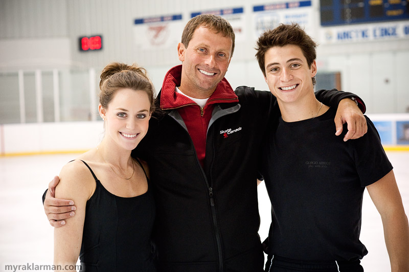 Tessa Virtue + Scott Moir: The H2O Sessions, Part II | Tessa and Scott with one of their coaches, Igor Shpilband. (I missed meeting and photographing Marina Zoueva, who was in Nebelhorn with Davis and White.)