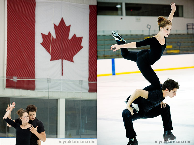 "Tessa Virtue + Scott Moir: The H2O Sessions, Part II | A large Canadian flag proudly displayed at Arctic Edge (as it should be!) | Tessa and Scott's famous Goose. (I'd like to think it's named after our son Max, whom we fondly call ""Goose,"" but it's really a reference to the Canada Goose.)"