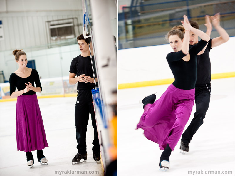 Tessa Virtue + Scott Moir: The H2O Sessions, Part II | Tessa wore a long skirt while practicing their Flamenco original dance program.