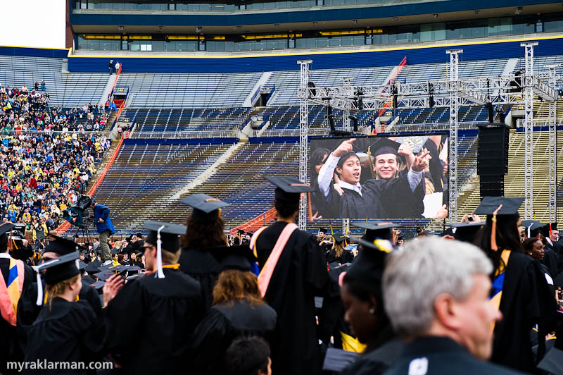 President Obama @ UM Commencement 2010 | Grads seeing themselves on the JumboTron created a lot of excitement.