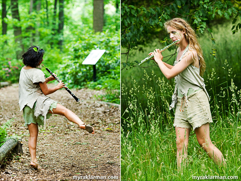 Shakespeare in the Arb: A Midsummer Night's Dream | As the audience traveled to a new location, these two fairies would race ahead — leaving period music in their wake.