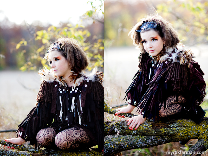 Photography Workshop: Peek into a Fantastical World | I absolutely adored this scene of this owl (who happens to be Majolaine's beautiful daughter) on the tree branch. The detailing of her costume was exquisite.