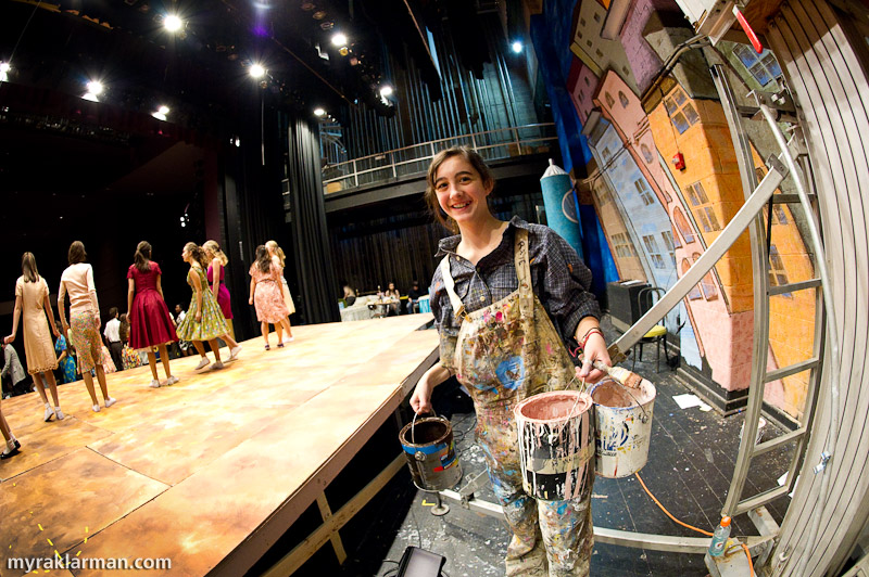 Pioneer Theatre Guild: Hairspray | You would not believe how much gets painted in the hours leading up to opening night — including crew member Sara King's overalls!