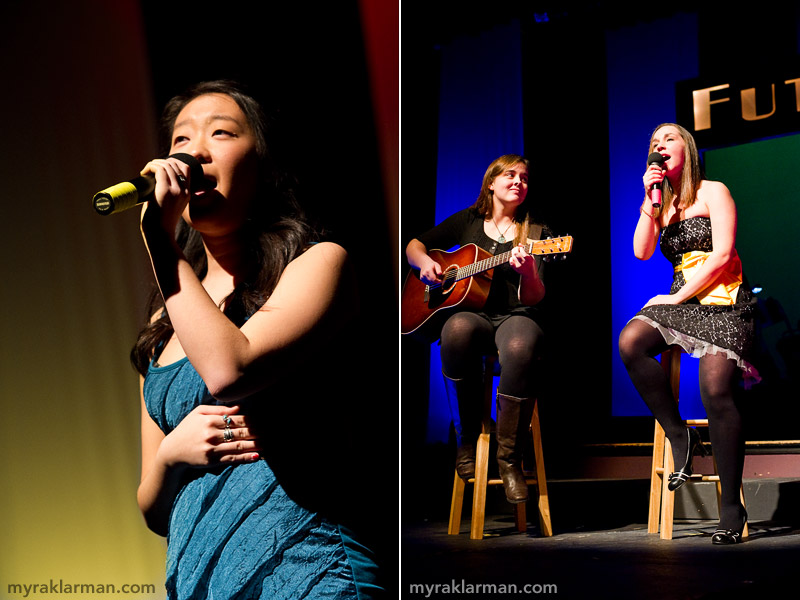 FutureStars 2011 | Emily Lim brings buttery vocals to Breathe. | Isabel McKay accompanies vocalist Victoria Reakhof in a slow and melodic rendition of The Beatles' I Want to Hold Your Hand.