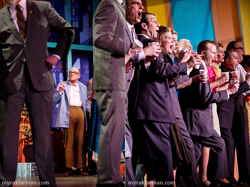 Burns Park Players: How To Succeed In Business Without ReallyTrying | Watch out! Twimble (Joel Swanson) threatens to steal the show. | Desperate office workers are frantic during the coffee-less Coffee Break!