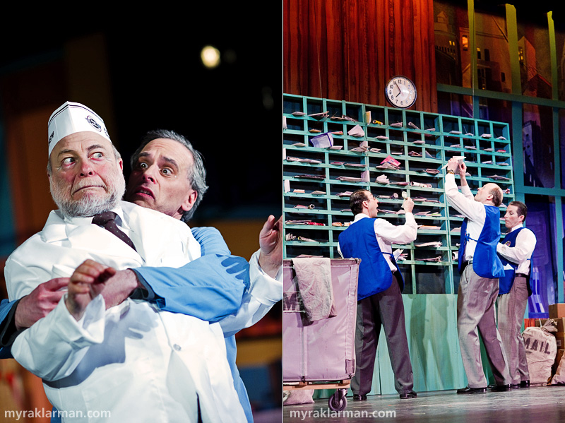 Burns Park Players: How To Succeed In Business Without ReallyTrying | Bud Frump (Ben Cohen) won't let the negligent coffee attendant (Howard Weinblatt) escape unscathed in Coffee Break. | The mailroom fellas are hilarious in The Company Way.