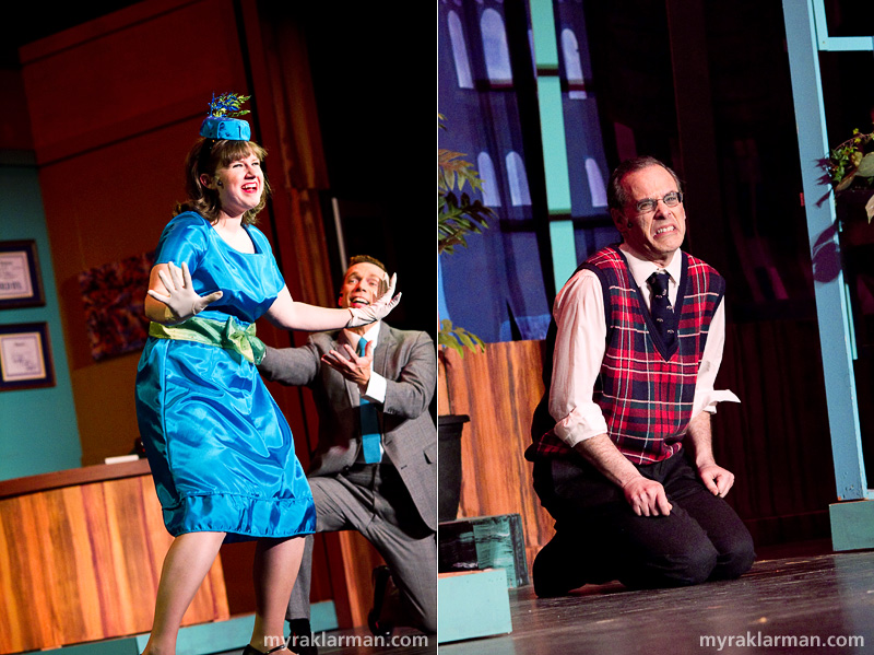 Burns Park Players: How To Succeed In Business Without Really Trying | Love is finally requited for Rosemary (Caroline Huntoon and Jeffrey Post). | A despondent Bud Frump (Ben Cohen) pledges revenge.