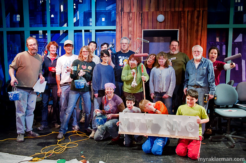 Burns Park Players: How To Succeed In Business Without ReallyTrying | I promise that the sets crew is a very friendly bunch once you get to know them!