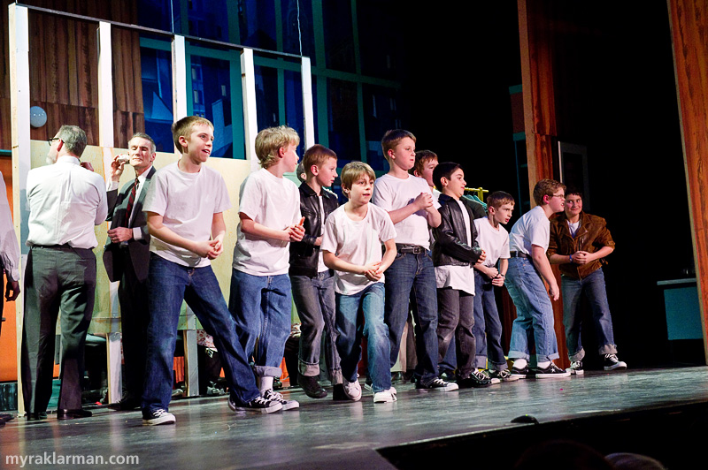 Burns Park Players: How To Succeed In Business Without ReallyTrying | The fifth grade boys are mighty fierce in I Believe in You. And the harmonies get me every time.