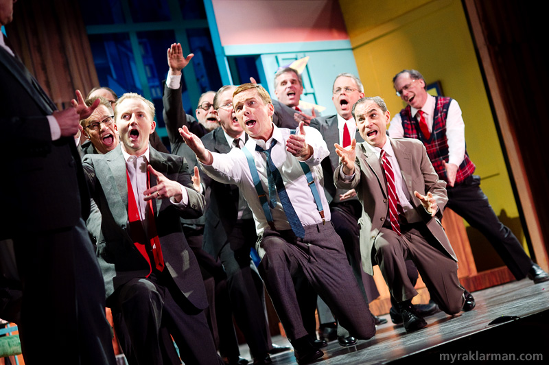 Burns Park Players: How To Succeed In Business Without ReallyTrying | The executives make a convincing case for keeping their jobs in the show-stopping number, Brotherhood of Man.