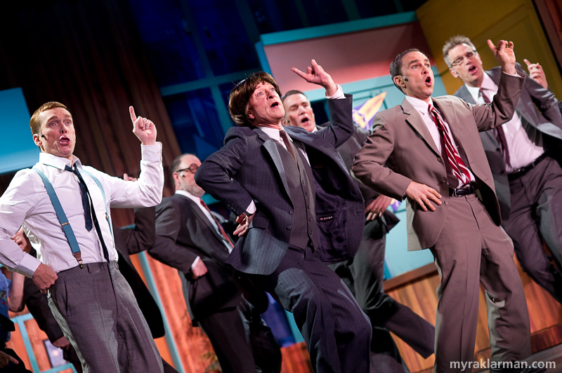 Burns Park Players: How To Succeed In Business Without Really Trying | Brotherhood of Man with Wally Womper (Joel Swanson sporting a swingin'-60s, moptop coiffe).