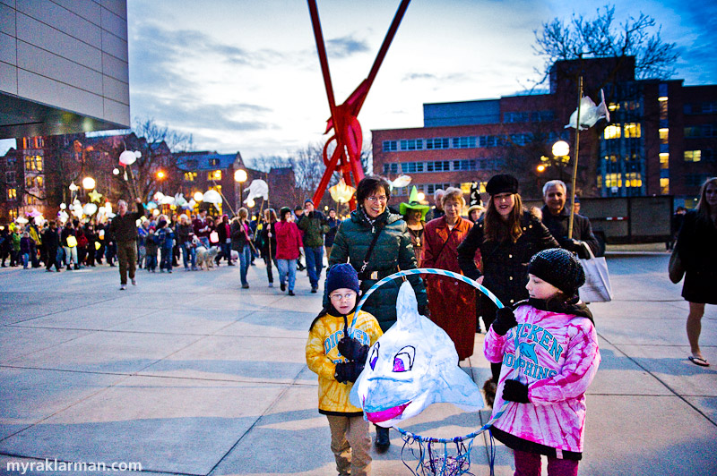 FoolMoon 2011 | This procession embarks from the UMMA, and wends its way to W. Washington St.