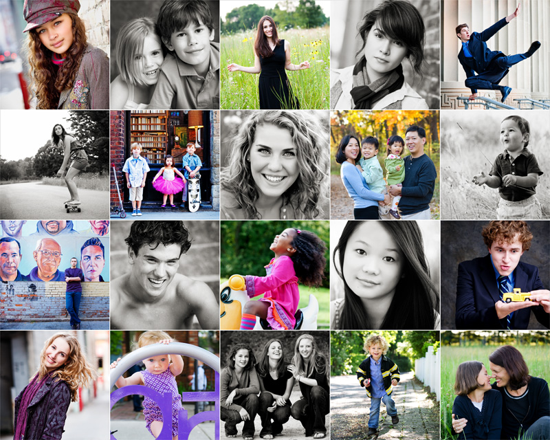 Sweetwaters Makes the World Sweeter — and Smaller | One of the pieces in the show: A matrix of recent family and high-school senior portraits.