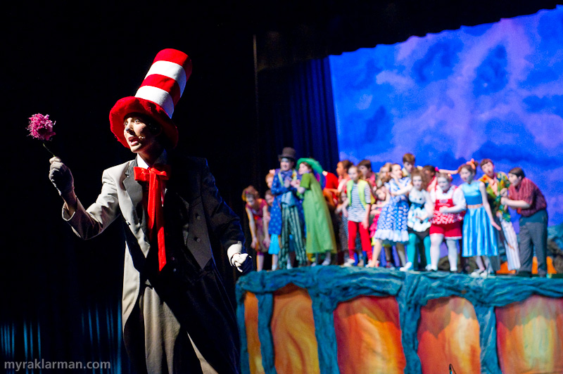 "Pioneer Theatre Guild: Seussical | The staging of ""How Lucky You Are"" somehow convinced me that those tiny Whos are on the clover!"