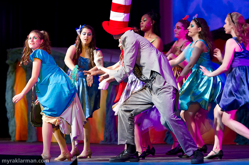 "Pioneer Theatre Guild: Seussical | Gertrude (Mara Abramson) is delighted to have her old tail back and enumerates everything she's done for Horton, ""All For You."""