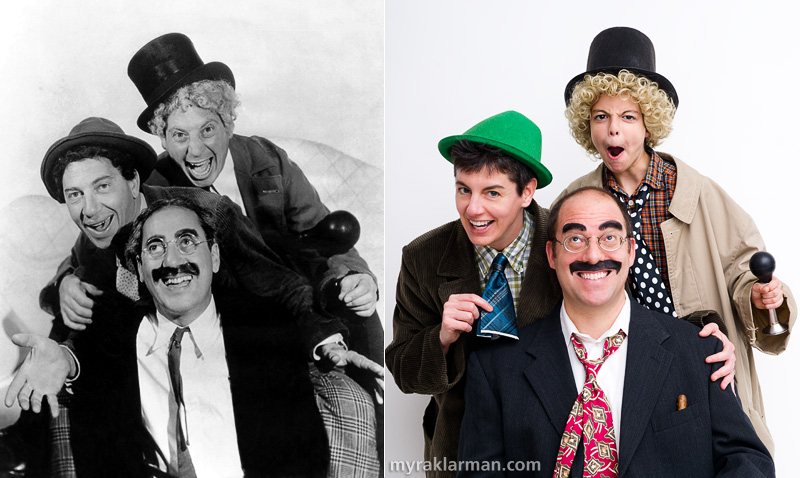 Halloween 2011 | Publicity photo for A Night at the Opera, by far our favorite Marx Brothers movie (check out this collection of snippets). | Thanks to Chico (originally pronounced Chick-o), I got roped into the act!